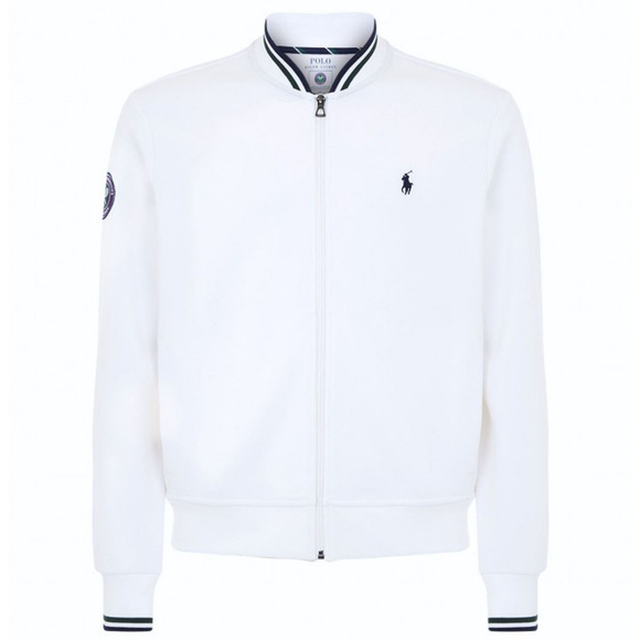 b075a14b Polo Ralph Lauren Wimbledon Zip-up Sweater White